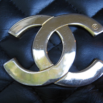 Vintage High Fashion Purse with Key Chain by Coco Chanel - &quot;The Big Flap&quot;