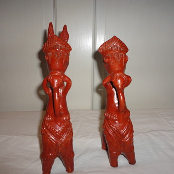 Red Clay Ceramic Donkeys?
