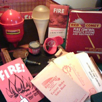 cool new find, fire grenade sales kit by Red Comet - Firefighting