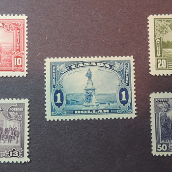 Canadian Stamps 1935 - SCOTT NUMBERS 223-227