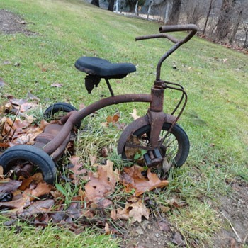 Antique Tricycle, Rusty Gold