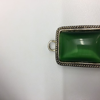 Green gemstone/Silver pendant