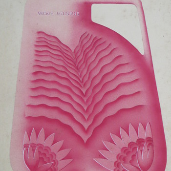 Art Deco Original Illustration for Ward's~Hot Water Bottle, BEAUTIFUL!
