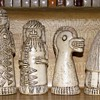 African Terra Cotta Chess Set