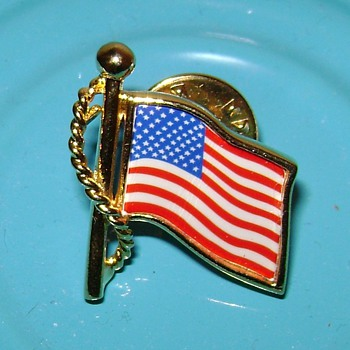 Stars Apple and American Flag Pins - Medals Pins and Badges