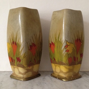 Pair of Wilton Art Deco vases