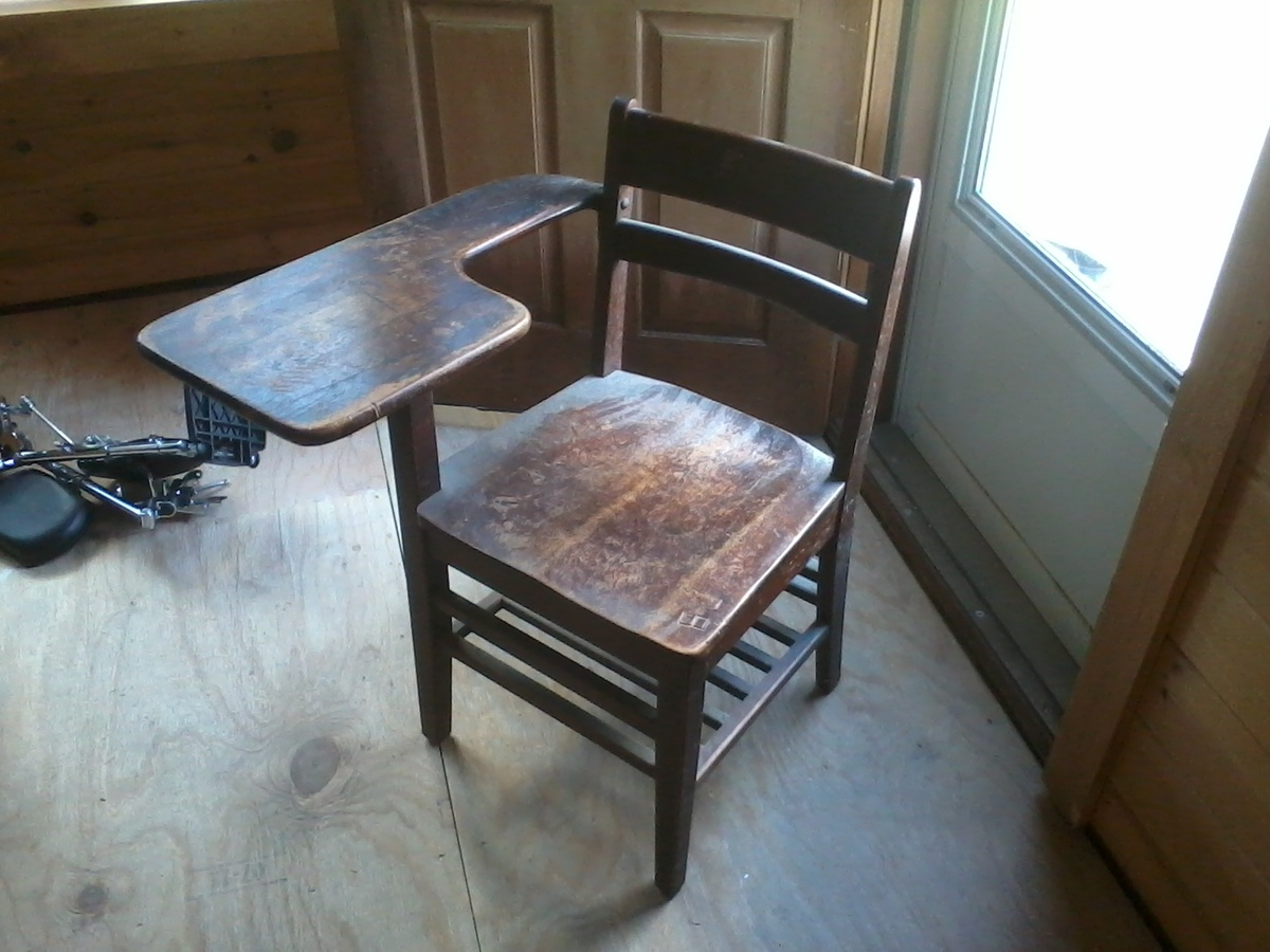 Wooden School Desk ~ Old wooden school desk collectors weekly