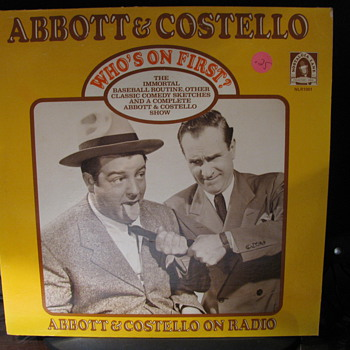 Abbott &amp; Costello Radio Program on L.P. 