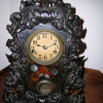 Iron Front Mantel Clock - Clocks