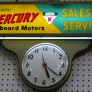 Mercury Outboard Clock - Advertising