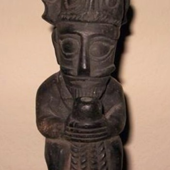Carved Stone idol from Africa ?