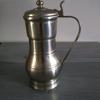 Vintage Pewter Beer Stein with Lid made in Holland by Metawa