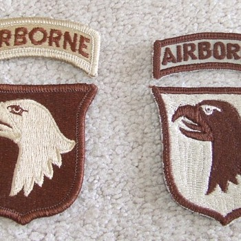 101st Patches from OEF/ OIF - Military and Wartime