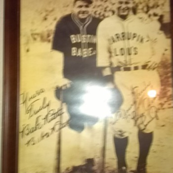 Babe Ruth  sighn picture.This is not a print up - Baseball