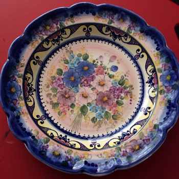 Stunning hand painted plate