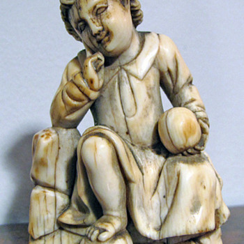 17th C. Colonial Goa Carved Ivory Figure - Asian