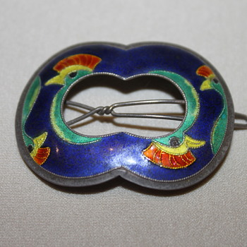 Silver Cloisonne Hair Berrettes - Fine Jewelry