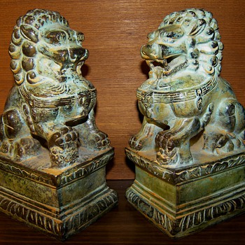 Shi Shi Lions AKA Foo Dogs - Asian