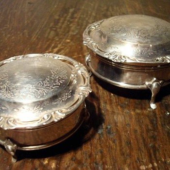 A Pair of Sweet Victorian Sterling Jewel Boxes 1859 - Sterling Silver