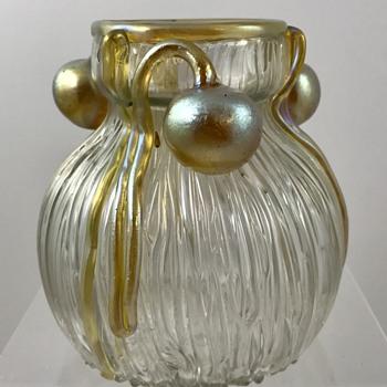 Loetz Weiss Boule-Boule vase, PN II-2294, ca 1905 - Art Glass
