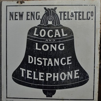 Early New England Telephone & Telegraph Company flange made in England - Telephones