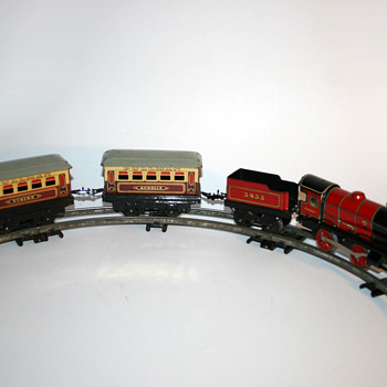 hornby train m1 passenger set wind up toy - Toys