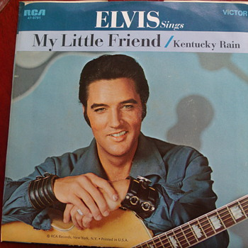"1970 Elvis Presley ""Kentucky Rain"" and ""My Little Friend"" 45rpm"
