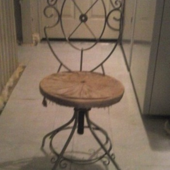 Delta Metal Industries Vanity Stool 1926?? - Furniture