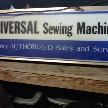 Universal Sewing Machine Sign (Lites up)