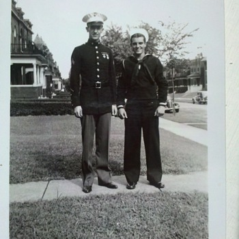 "WWII snap shots, guys from ""the old neighborhood""....2"" X 3"" - Military and Wartime"