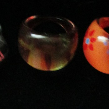 Plastic rings, and one Lucite? - Costume Jewelry