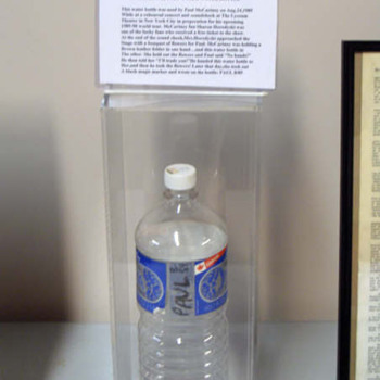 Paul McCartney's used water bottle-1989...