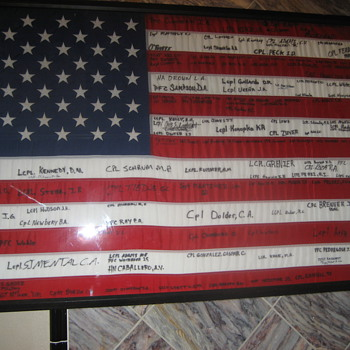 2003 R.O.T.C. signed flag 30 x 60 - Military and Wartime