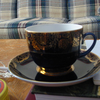 Soviet Union-era tea cup with gold trim