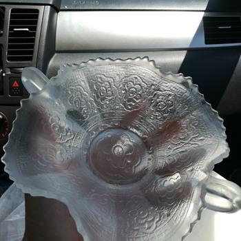 Fenton Persian Medallion bon bon dish - Glassware