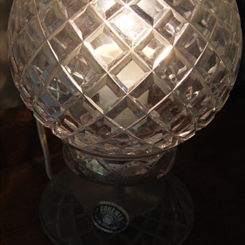 24% lead hand cut  Bohemia Crystal Lamps x 2 - Lamps