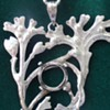 Art Nouveau seaweed pendant