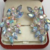Aurora Borealis Rhinestone Climber Earrings