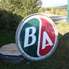 B/A petrolium gas/oil sign and Eagle gas can