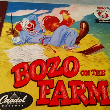 BOZO ON THE FARM RECORD BOOK