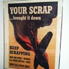 "WW2 ""Your Scrap Brought it Down"" Poster"
