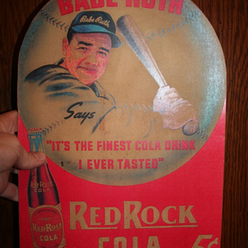 1939 Babe Ruth  / Red Rock Cola advertisment