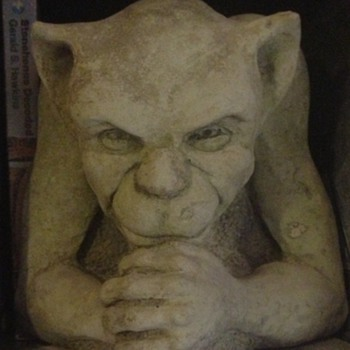 Gargoyle and the green man - Art Pottery