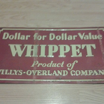Willys-Overland Whippet Sign
