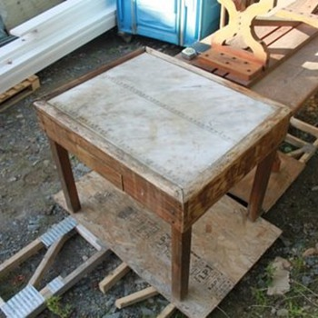 Post office table - marble top... - Office