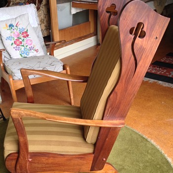 Wooden platform rocker antique