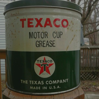 Texaco Motor Cup Grease - Petroliana