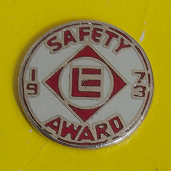 Erie Lackawanna Railway Safety Award Pin 1973 - Railroadiana