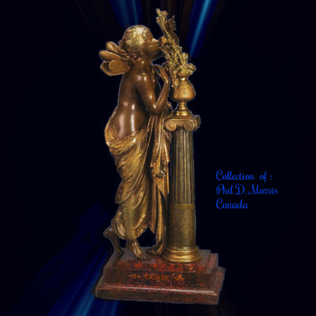 L'Aurore Statue By Mathurin Moreau, Bronze Signed in Mould, Math Moreau
