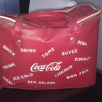Coca cola Vinyl cooler bag vintage